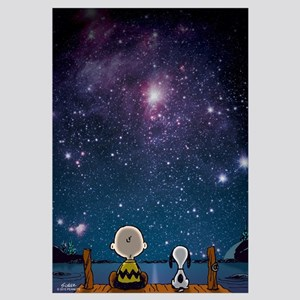 Snoopy And Charlie Brown - Spaced Out Wall Art
