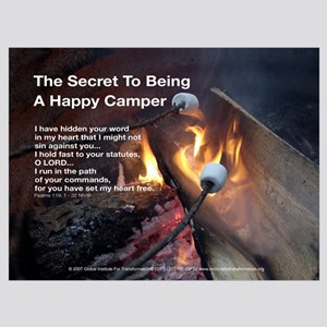 The Secret To Being A Happy Camper - Framed