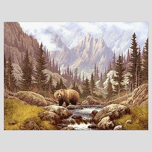 Grizzly Bear Landscape Wall Art