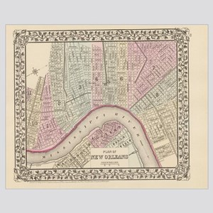 Vintage Map of New Orleans (1880)