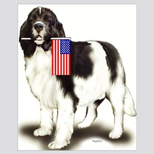 Landseer with flag