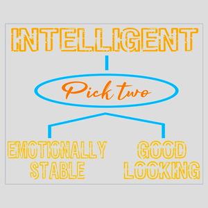 """""""Intelligent (Pick Two) Emotionally Wall Art"""