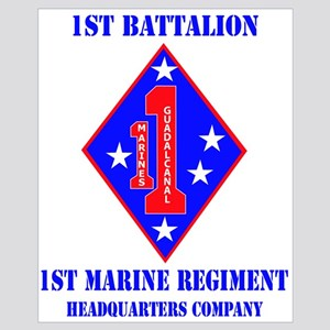 HQ Coy - 1st Marine Regiment with Text Large Frame