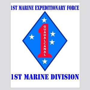 1st Marine Division with Text Wall Art