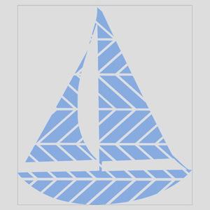 Chevron Sailboat