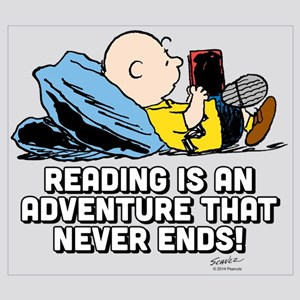 Charlie Brown - Reading is an Adventure Wall Art