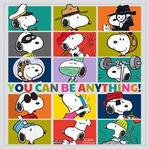 Snoopy-You Can Be Anything Wall Art