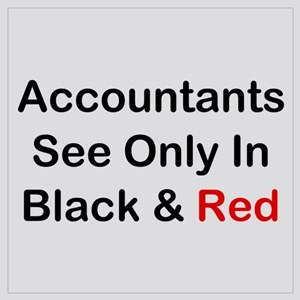 Accountants See Black & Red Wall Art
