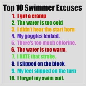 Swimming Excuses
