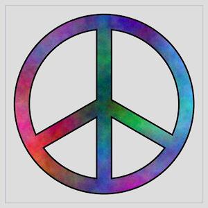 Multicolor Peace Sign