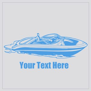 Motorboat. Add Your Text. Wall Art
