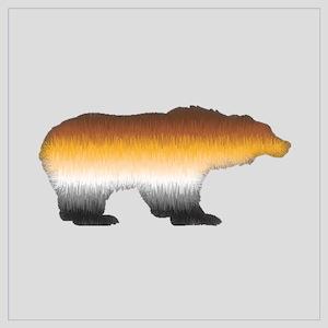 FURRY BEAR PRIDE BEAR CUTOUT