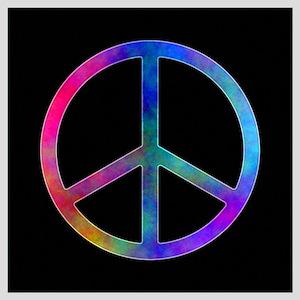 "Multicolor Peace Sign Poster 16"" X 16"""
