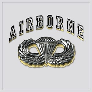 US Army Airborne Wings Silver Wall Art