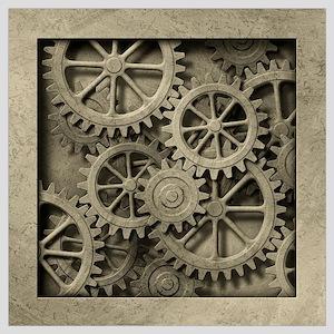 Steampunk Cogwheels Wall Art