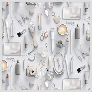 White Vanity Table Wall Art