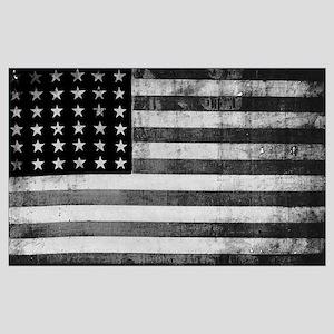American Vintage Flag Black and White horizontal