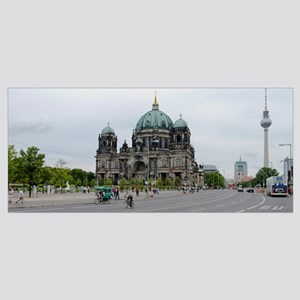 Berlin Cathedral with Berlin Television Tower in t