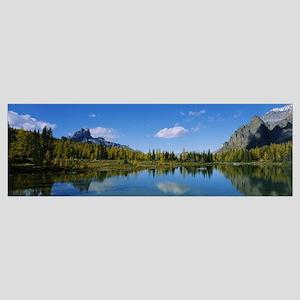 Reflection of trees on water, Lake OHara, Yoho Nat