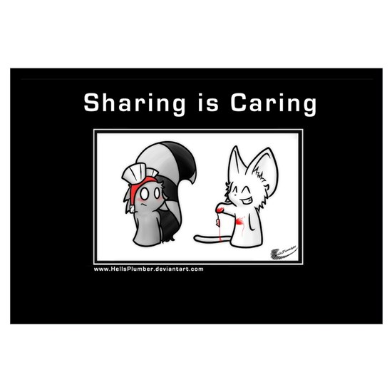 b2551c99d BNC  Sharing is Caring Motivator by Admin Store - CafePress