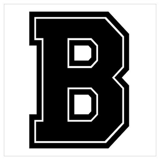 B Varsity Style Font