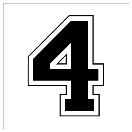 Varsity Font Number 4 Black