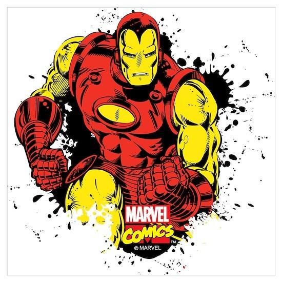 Iron Man Paint Splatter Wall Art