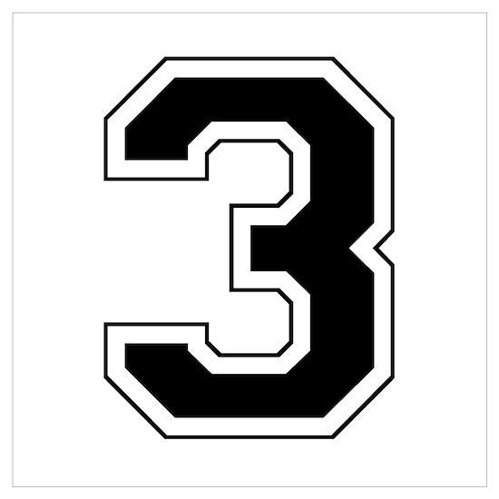 Varsity Font Number 3 Black