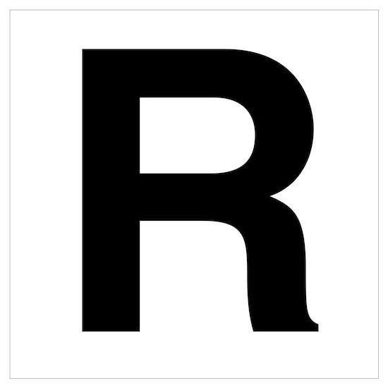 R Helvetica Alphabet