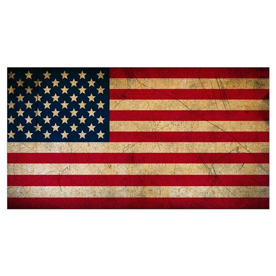 Distressed Grunge USA Flag