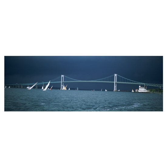 A storm approaches sailboats racing past Rose and