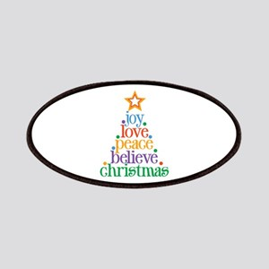 Joy Love Christmas Patches