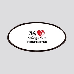Heart Belongs Firefighter Patches