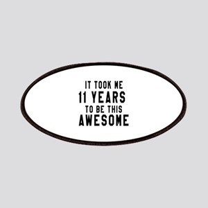 11 Years Birthday Designs Patch