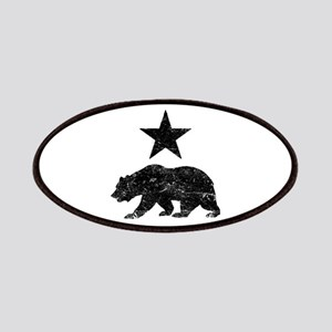 California Republic distressed Bear and Star Patch