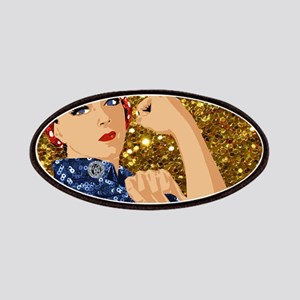 glitter rosie the riveter Patch