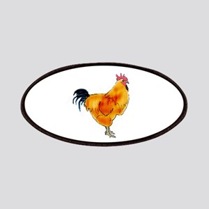 Rhode Island Red Rooster Patches