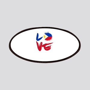 Love Philippines Flag Filipino Filipina Pino Patch