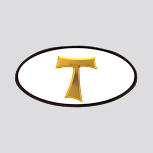 Golden Franciscan Tau Cross Patches