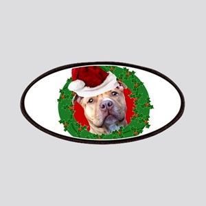 Christmas Pitbull Dog Patch