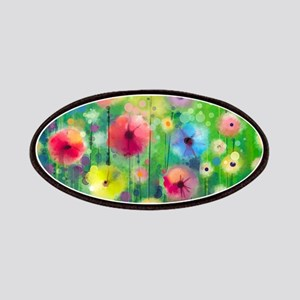 Watercolor Flowers Patch