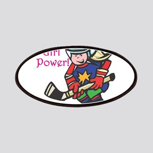 Girl Power Hockey Player Patches