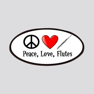 Peace, Love, Flutes Patches