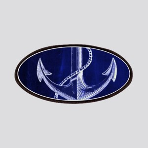nautical navy blue anchor Patches