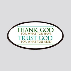 Thank God - Trust God Patches
