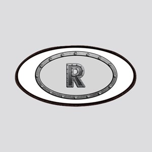 R Metal Oval Patch