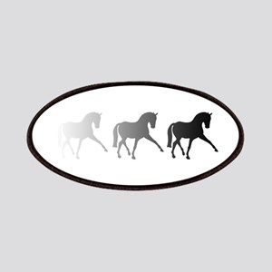 Dressage Horse Sidepass Ombre Patches