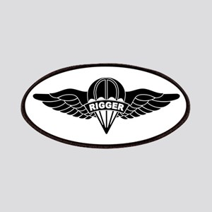 Parachute Rigger B-W Patches