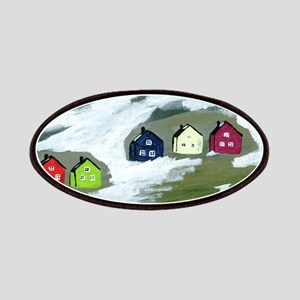 Colorful Winter Houses Patches