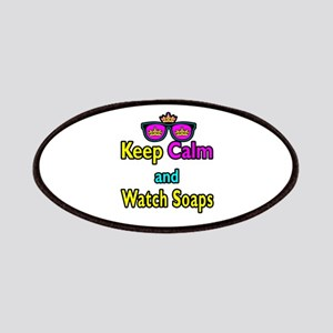Crown Sunglasses Keep Calm And Watch Soaps Patches